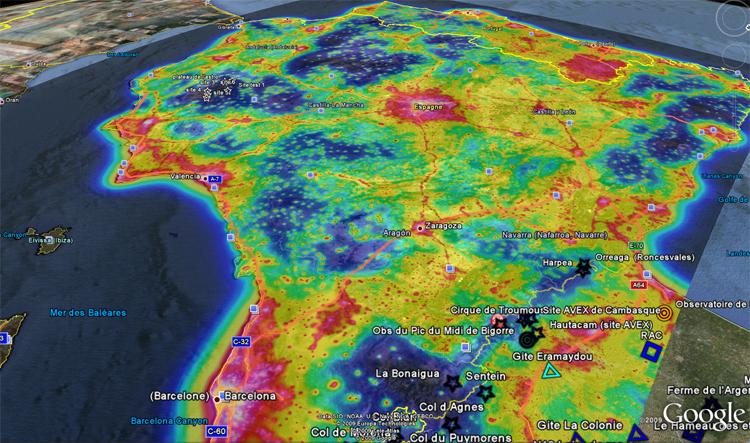capture d'ecran google earth