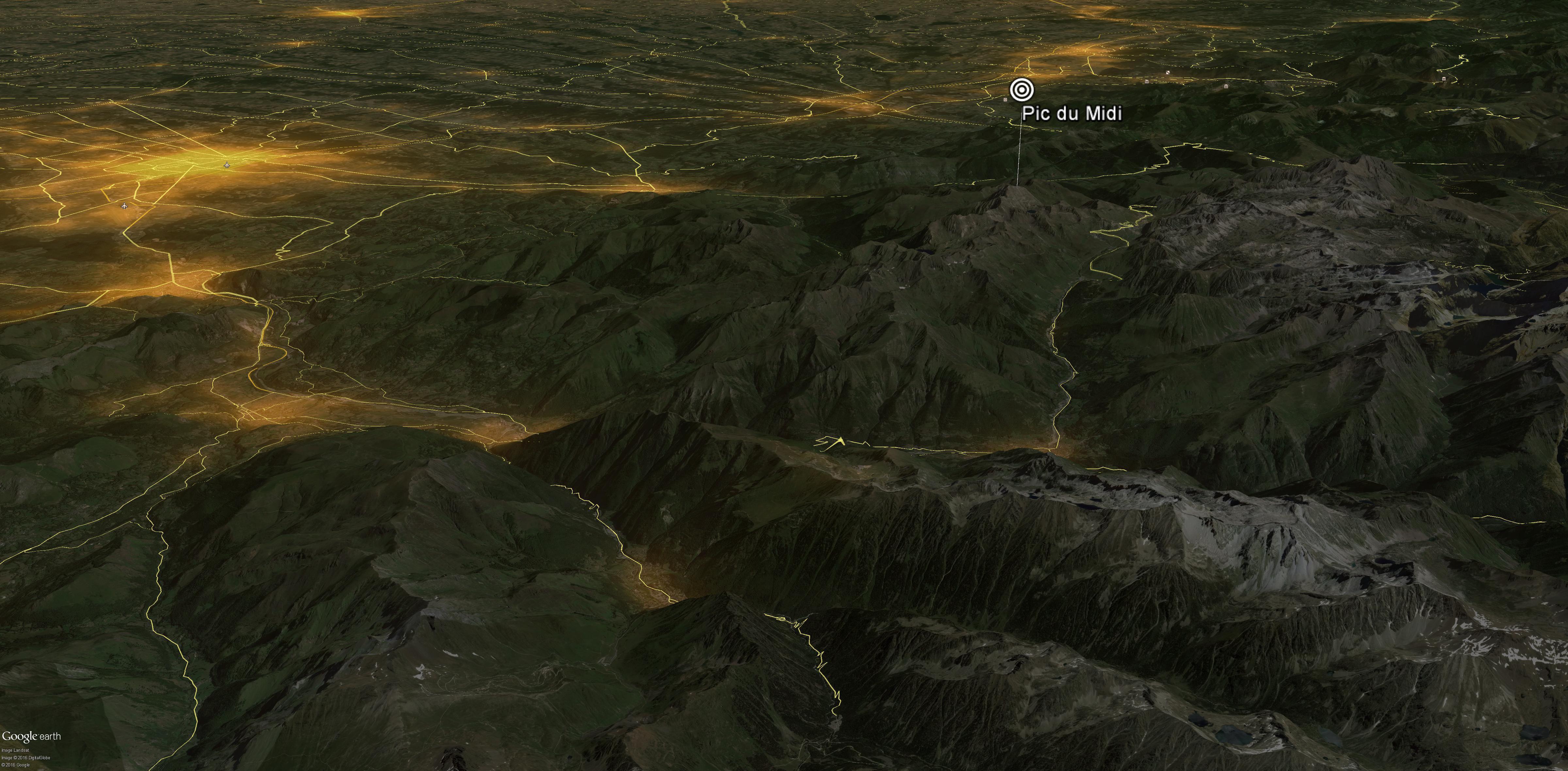 Europeean light pollution map – AVEX 2016 – Les dossiers AVEX