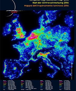 Carte Pollution Lumineuse Alsace.Cartes De Pollution Lumineuse Europeenne Avex 2016 Les